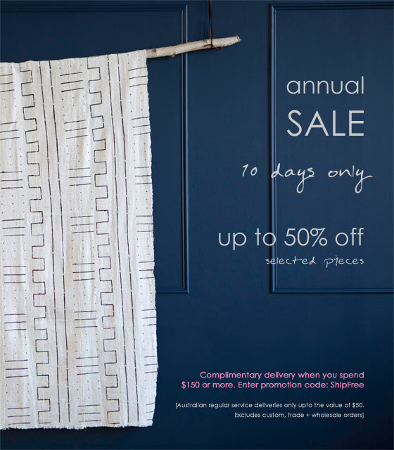 Annual SALE! | For 10 days only save up to 50% off selected art, crafts + homewares at Safari Fusion