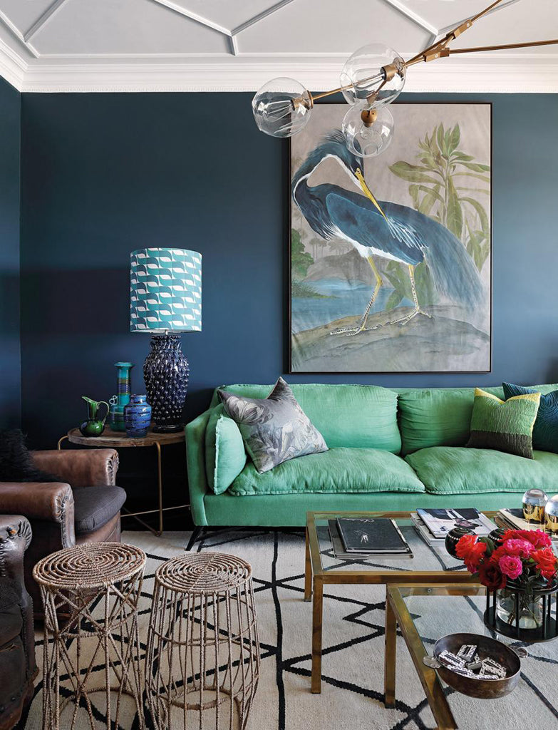 Safari Journal / Blog by Safari Fusion | Bold colour | South African interior designer Michele Throssell's Johannesburg apartment