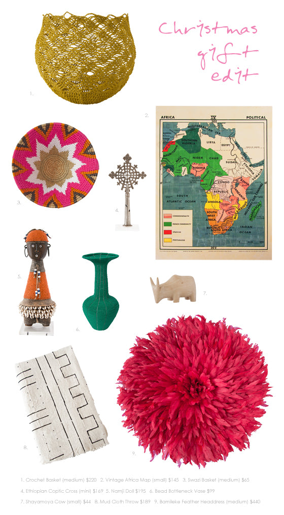Safari Journal / Blog by Safari Fusion | Christmas gift edit | Gift ideas for the global style home decorator