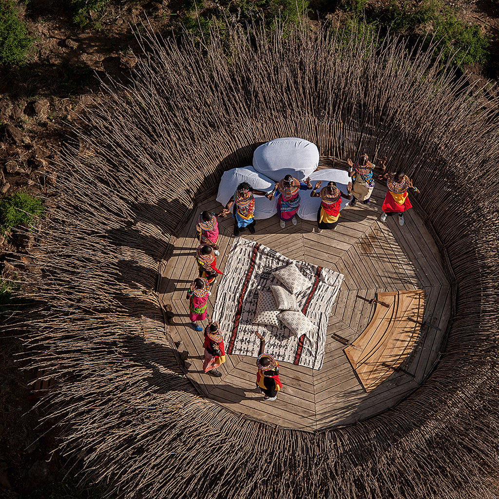 Safari Journal / Blog by Safari Fusion | Circles | Round and circular shapes in African architecture and design | Segera Nay Palad Bird Nest, Laikipia / Kenya