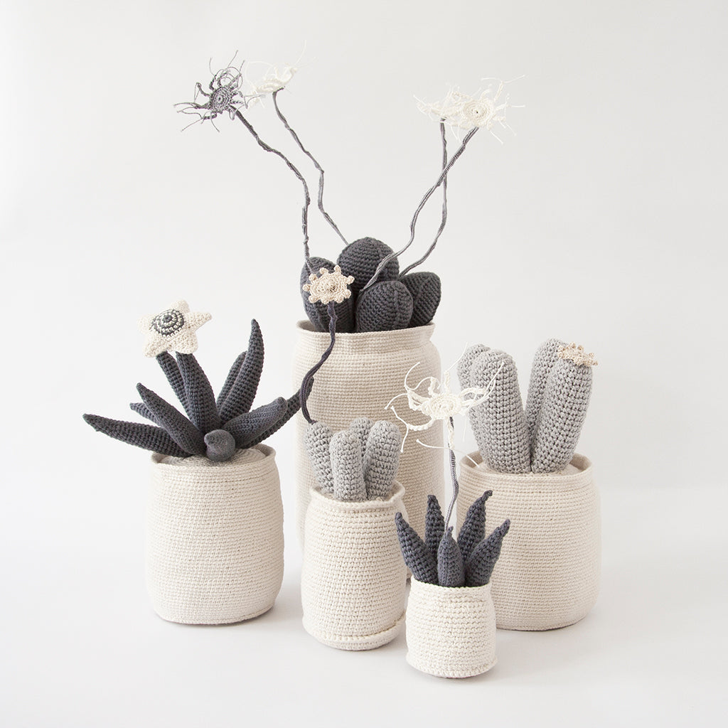 Safari Journal / Blog by Safari Fusion | Crochet cactus | Hand-knitted Crochet Cactus, Succulents and Euphorbia pot plants