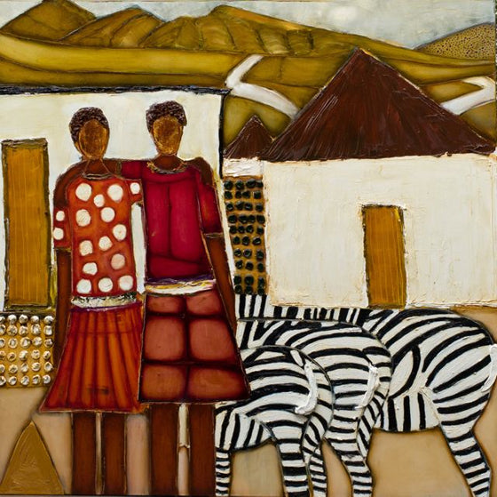 Safari Journal / Blog by Safari Fusion | Artist Dael Couturier | A South African now residing in Melbourne, Dael paints from memories of her time in Africa and also from snap shots taken on her visits back to her homeland | © Dael Couturier