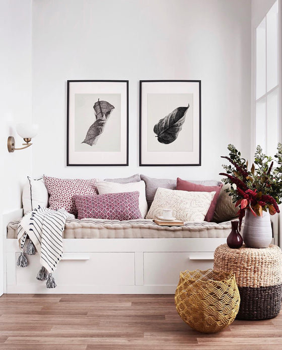 Daybed styling | Make it Sunday everyday with this cosy contemporary reading nook | Styling by Sarah Maloney for Australian House & Garden magazine