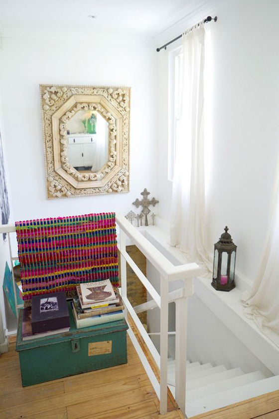 Ethiopian Crosses | Beautiful display of Ethiopian Coptic Processional Crosses in an eclectic Cape Town home