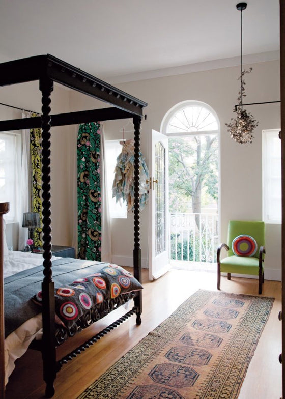 Four-poster beds | Revived 1920s interiors of a Saxonworld (Johannesburg) home, South Africa