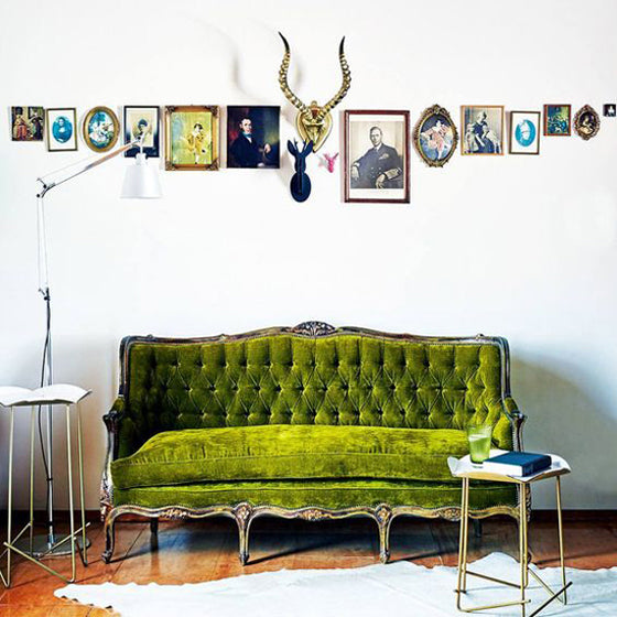 A green seat | Old world charm with a green antique French daybed in a Cape Dutch home, Babylonstoren South Africa