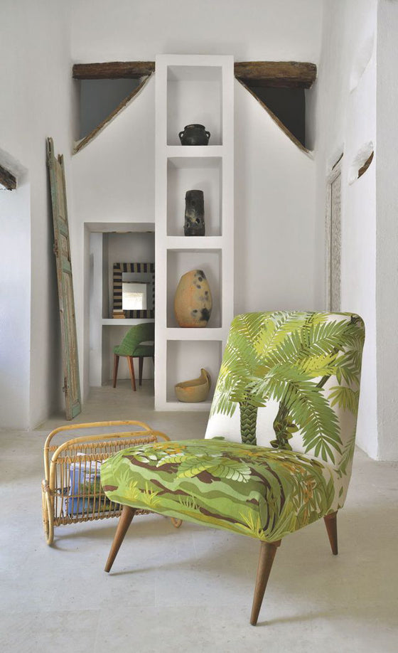 A green seat | Medina simplicity with a Scandi inspired slipper chair, Tunis Tunisia