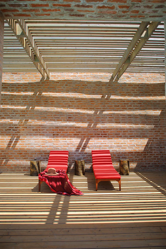 Klompie bricks | Outdoor guest space at Angama Mara, Masai Mara Kenya