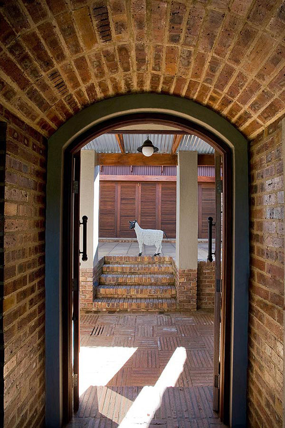 Klompie bricks | Entrance to a Johannesburg getaway, Dullstroom South Africa