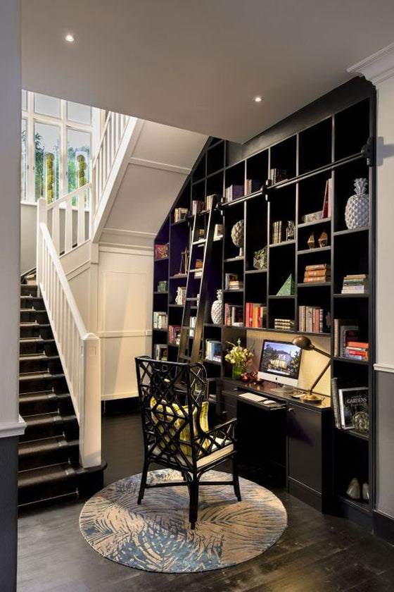 Library style | Under stairs library and office nook at the boutique hotel Cape Cadogan [Cape Town], South Africa