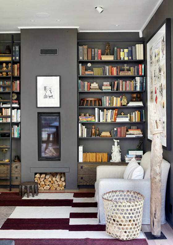 Library style | A contemporary style library in a Newlands [Cape Town] home, South Africa