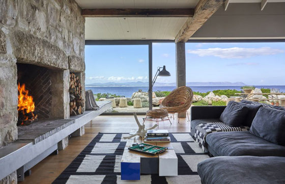 Safari Journal / Blog by Safari Fusion | Light a fire | Contemporary coastal living at Stone House, Hermanus / South Africa