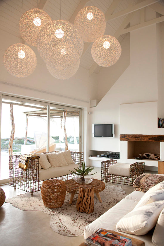 Safari Journal / Blog by Safari Fusion | Light the way [part 2] | Round string ball lighting in a South Africa beach house