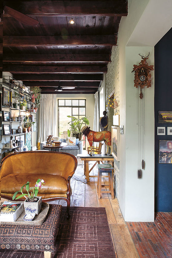Safari Journal / Blog by Safari Fusion | Modern bohemian | Layers of textiles, plants, books, objects and art in a Cape Winelands cottage, Pniel / South Africa