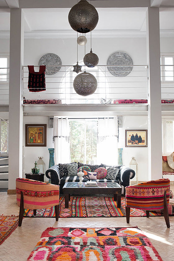 Safari Journal / Blog by Safari Fusion | Modern bohemian | North African chic with modern bohemian rugs at Peacock Pavilions, Marrakech / Morocco