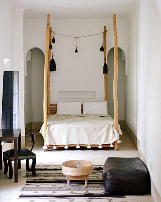 Safari Journal / Blog by Safari Fusion | Moroccan dreaming | Monochrome + raw timber in a Moroccan bedroom suite