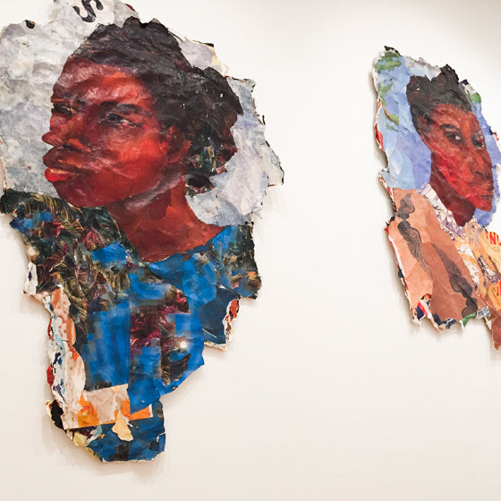 NGV Triennial | Collage of torn paper by Kay Hassan, South Africa