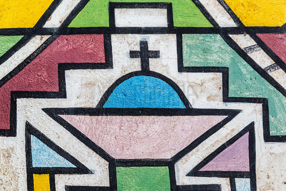 Geometric design: Ndebele | Colourful African tribal design of South Africa's Ndebele people