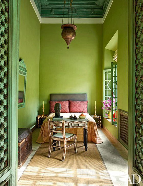 Safari Journal / Blog by Safari Fusion | Greenery | Bedroom of a Marrakech riad