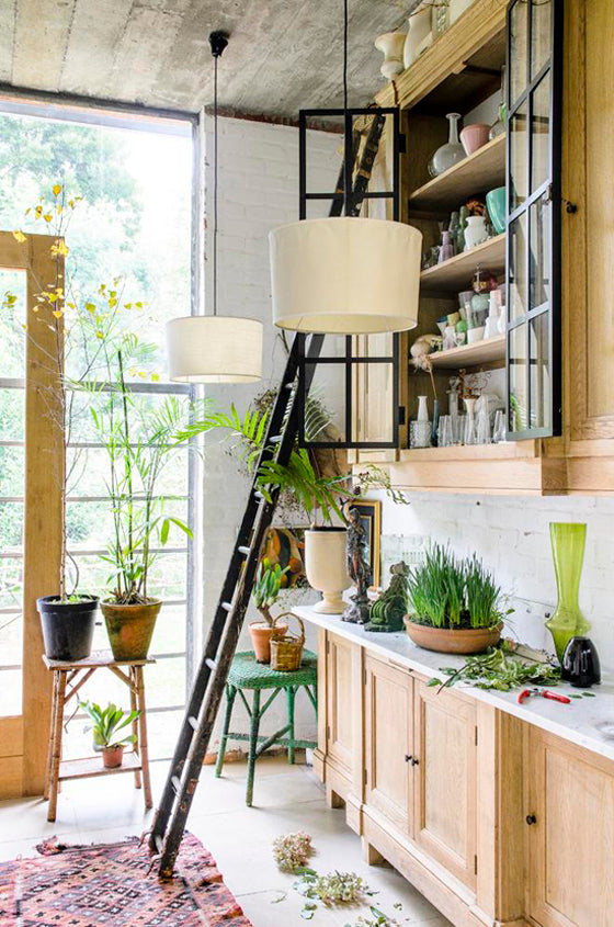 Safari Journal / Blog by Safari Fusion | Greenery | Kitchen of South African floral artists Dané Erwee and Chris Willemse via House and Garden