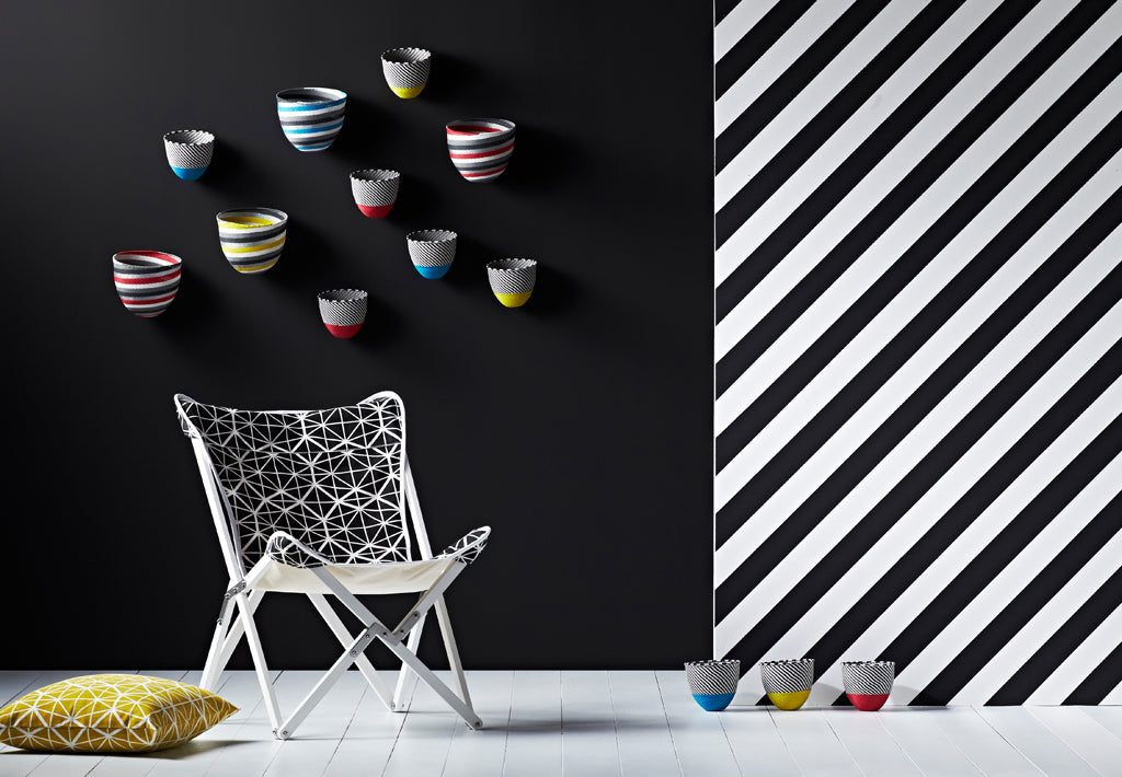 Safari Journal / Blog by Safari Fusion | 10 years of African design | Tripolina Chair, Telephone Wire Stripe Bowls + Telephone Wire Wave Bowls by Safari Fusion www.safarifusion.com.au | Image © Safari Fusion