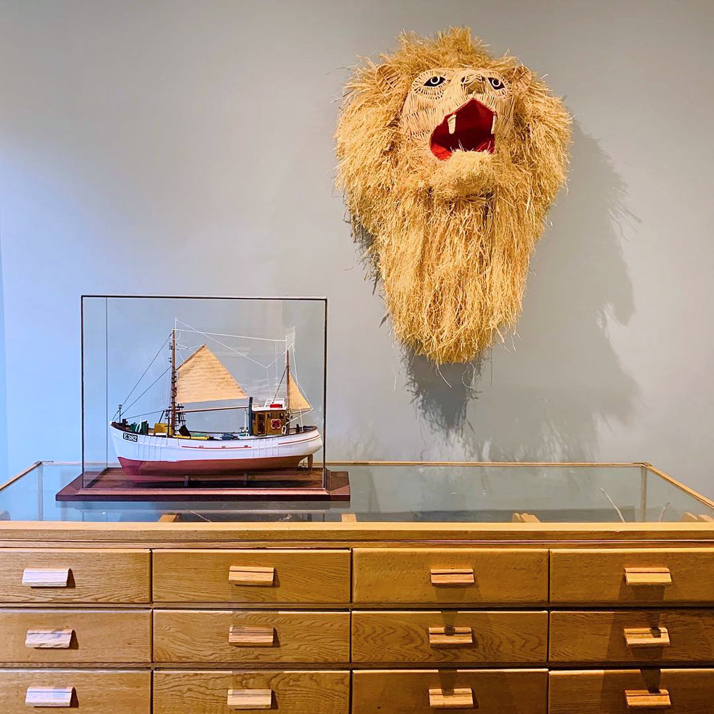 Safari Journal / Blog by Safari Fusion | Safari trophy heads | Raffia Lion trophy head by Etienne Hanekom Interior Designers / South Africa