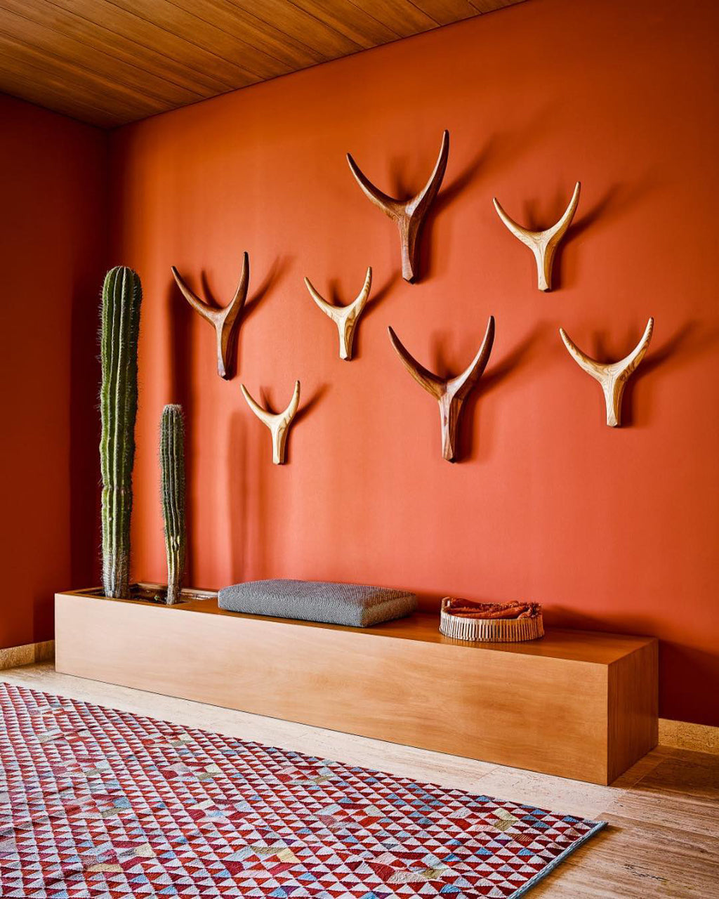 Safari Journal / Blog by Safari Fusion | Safari trophy heads | Wooden Nguni Heads by South African designers Vogel