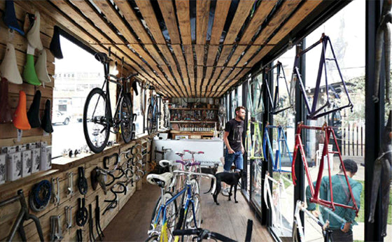 Ship it [part 2] | ustom bicycles created in a shipping container | Whippet Cycle Co Maverick Corner, Maboneng precinct, Johannesburg South Africa