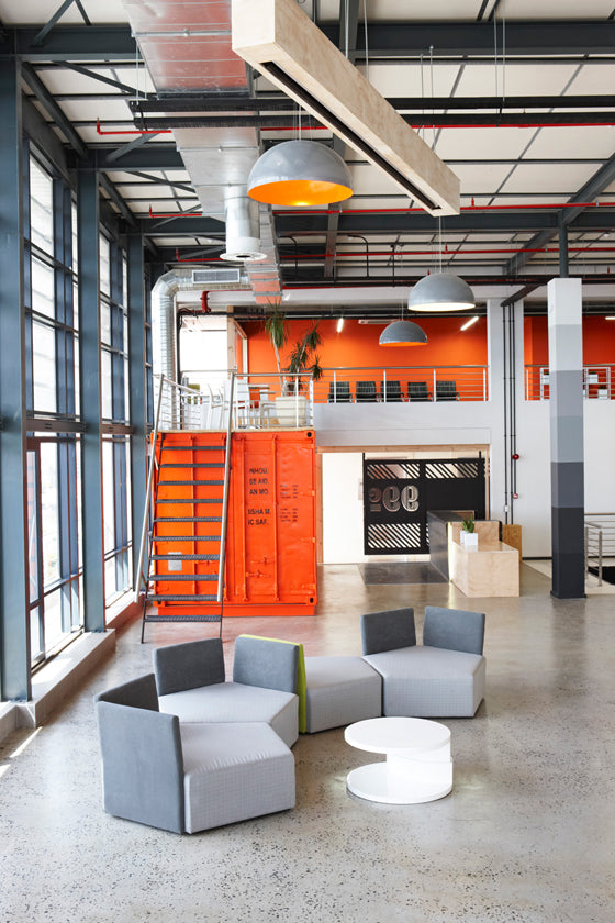 Ship it [part 2] | industrial interiors of advertising agency 99c on Cape Town's foreshore