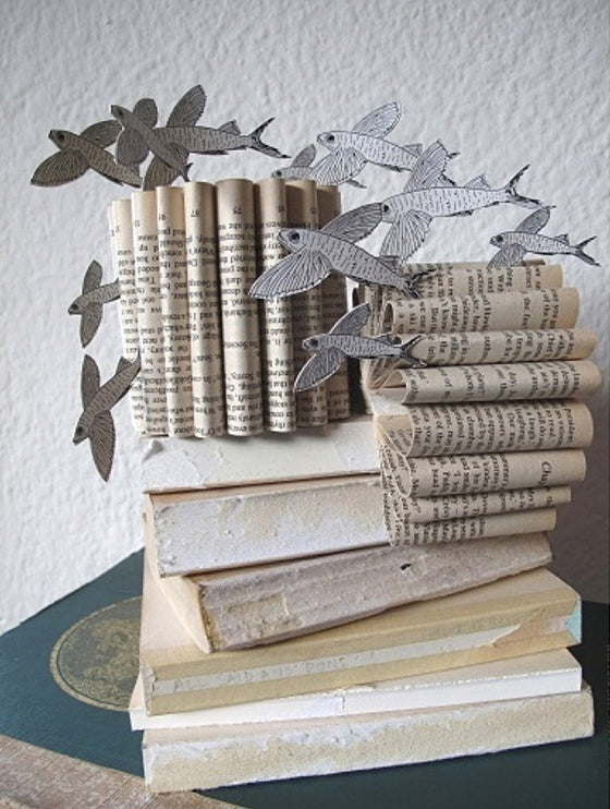 Safari Journal / Blog by Safari Fusion | Africa folded | Original recycled paper book art by Simple Intrigue / South Africa