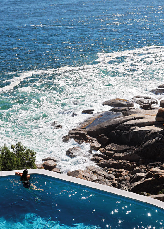 Safari Journal / Blog by Safari Fusion | Summer sea views | Crashing waves from the clifftop pool at Icaria / Bantry Bay, South Africa