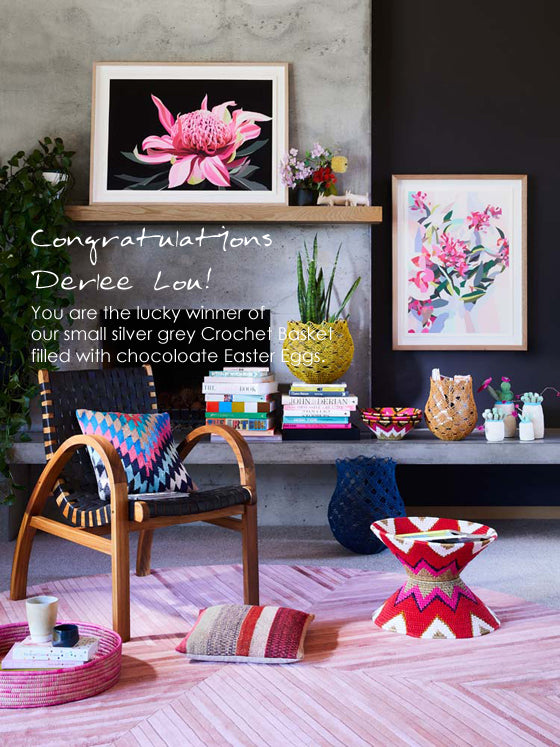 And the winner is... | Safari Fusion's The Melbourne Collective small silver grey Crochet Basket Giveaway