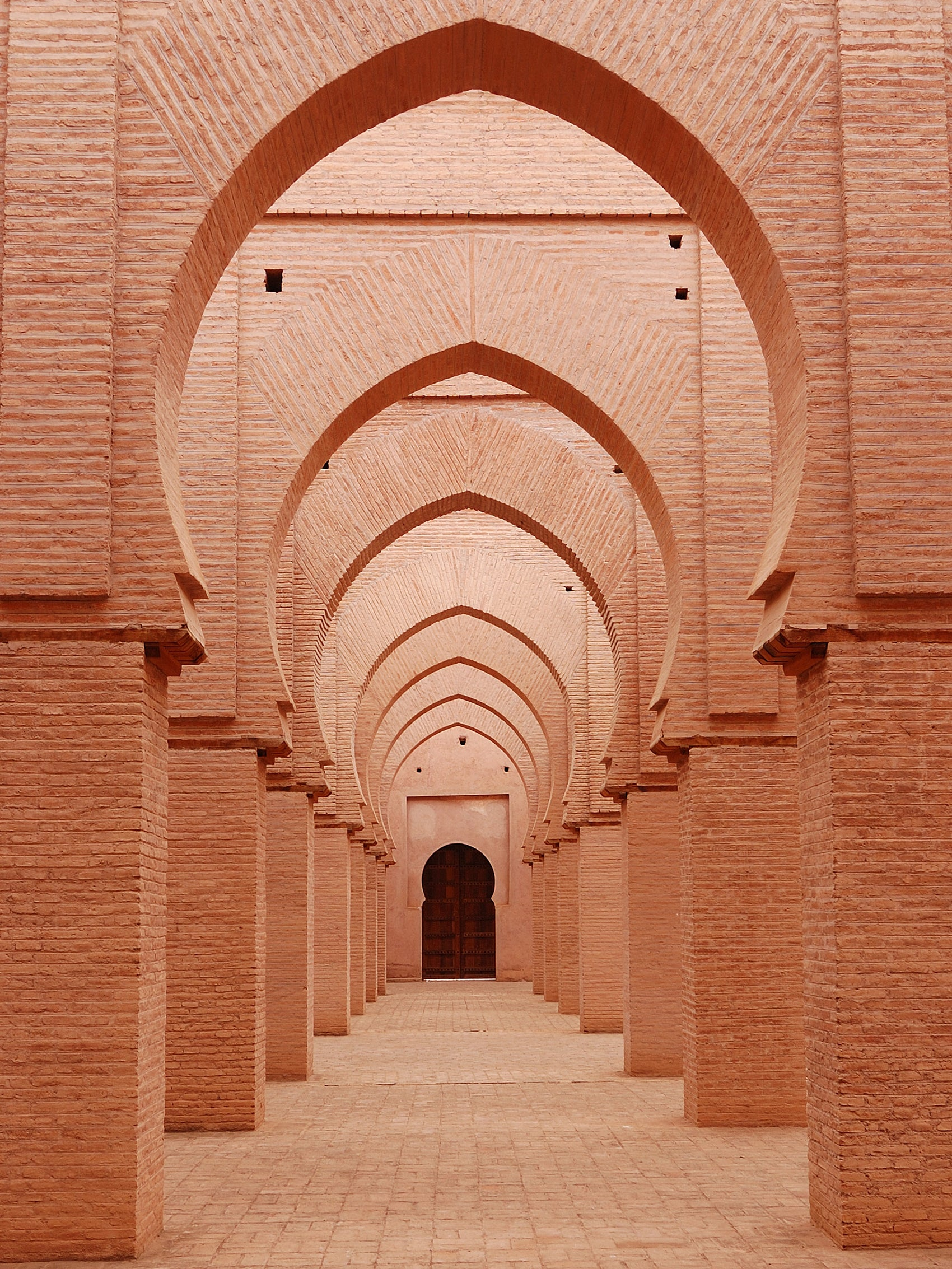 Safari Journal / Blog by Safari Fusion | Archways | Beautiful brickwork archways of the Tin Mal Mosque, Al Haouz [High Atlas Mountains] Morocco