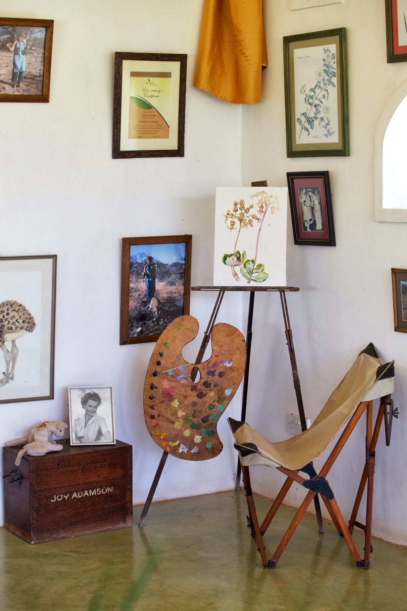 Safari Journal / Blog by Safari Fusion | Tripolina chair | Joy Adamson museum at Joy's Camp, Kenya