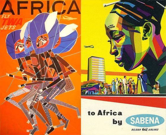 Safari Journal / Blog by Safari Fusion | More Africa vintage travel posters | Colourful African artwork for the wall