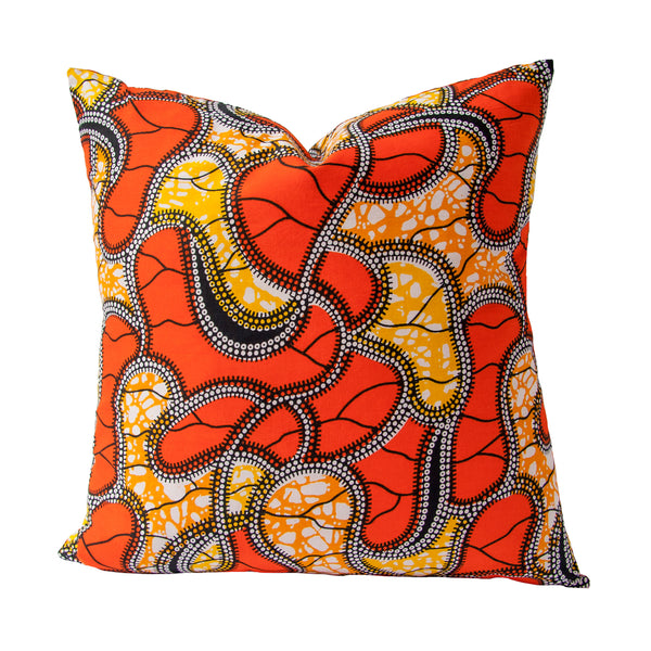 Afrique Cushion (orange) by Safari Fusion www.safarifusion.com.au