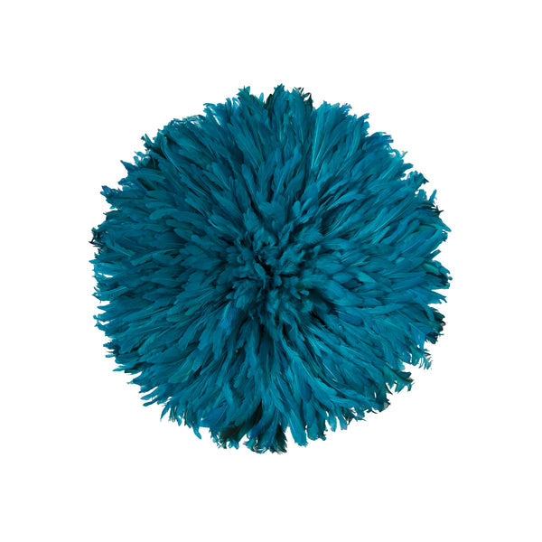Bamileke Feather Headdress (small | teal)