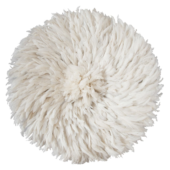 Bamileke Feather Headdress (white)
