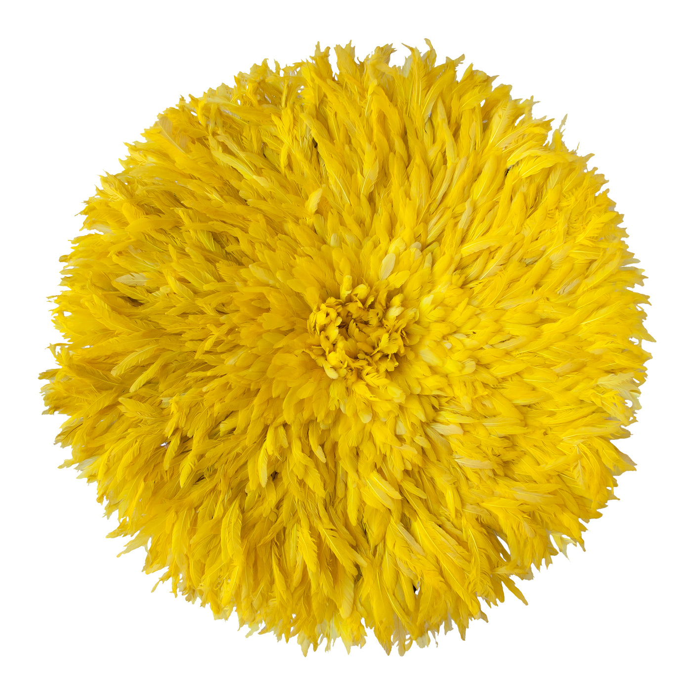 Bamileke Feather Headdress (yellow) | Juju Hat by Safari Fusion www.safarifusion.com.au