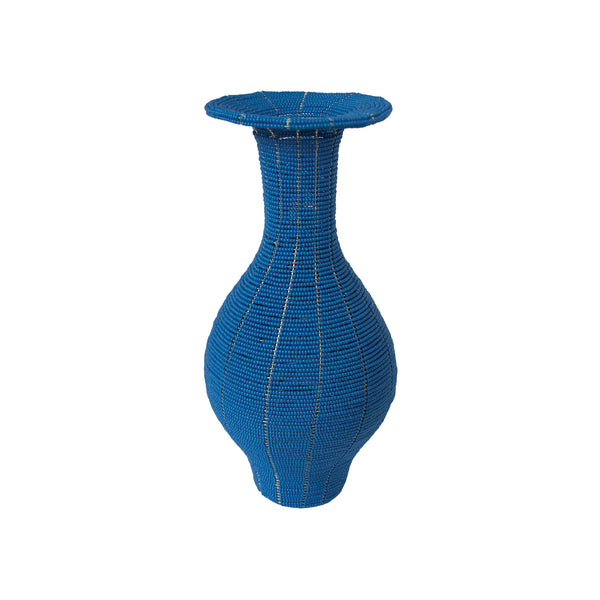 Bead Long Vase (blue) by Safari Fusion www.safarifusion.com.au