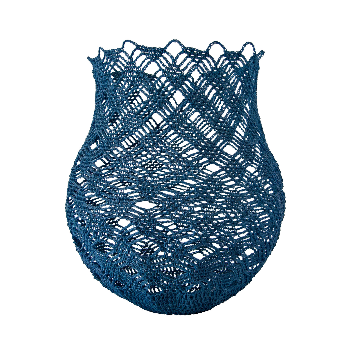 Crochet Basket (large | indigo blue) by Safari Fusion www.safarifusion.com.au