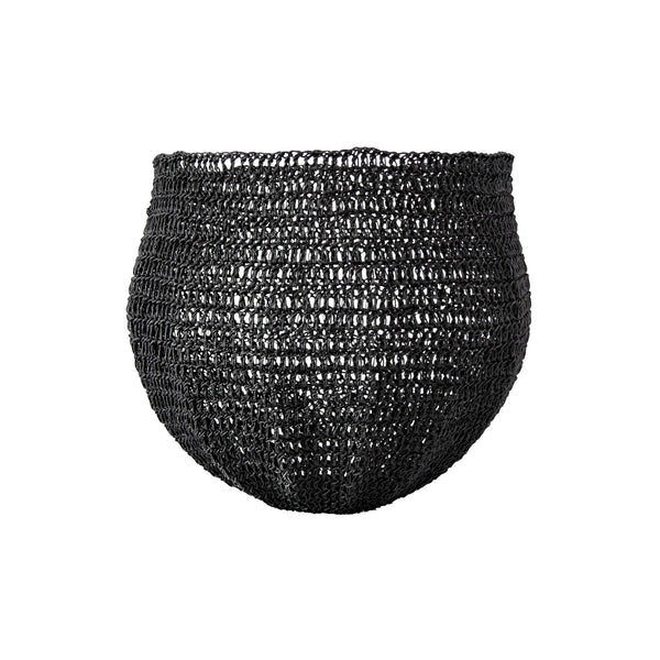 Crochet Basket (medium | black) by Safari Fusion www.safarifusion.com.au