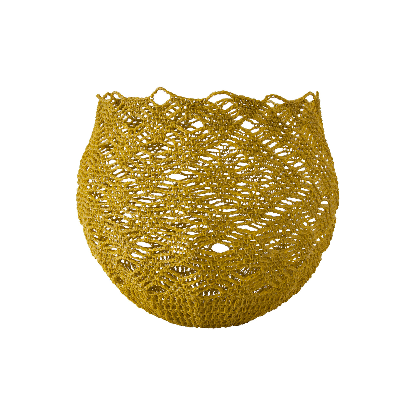 Crochet Basket (medium | mustard) by Safari Fusion www.safarifusion.com.au