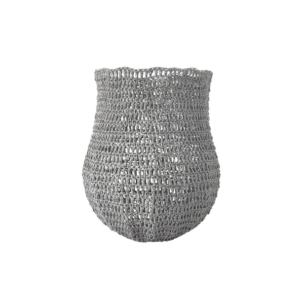 Crochet Basket (small | silver grey) by Safari Fusion www.safarifusion.com.au
