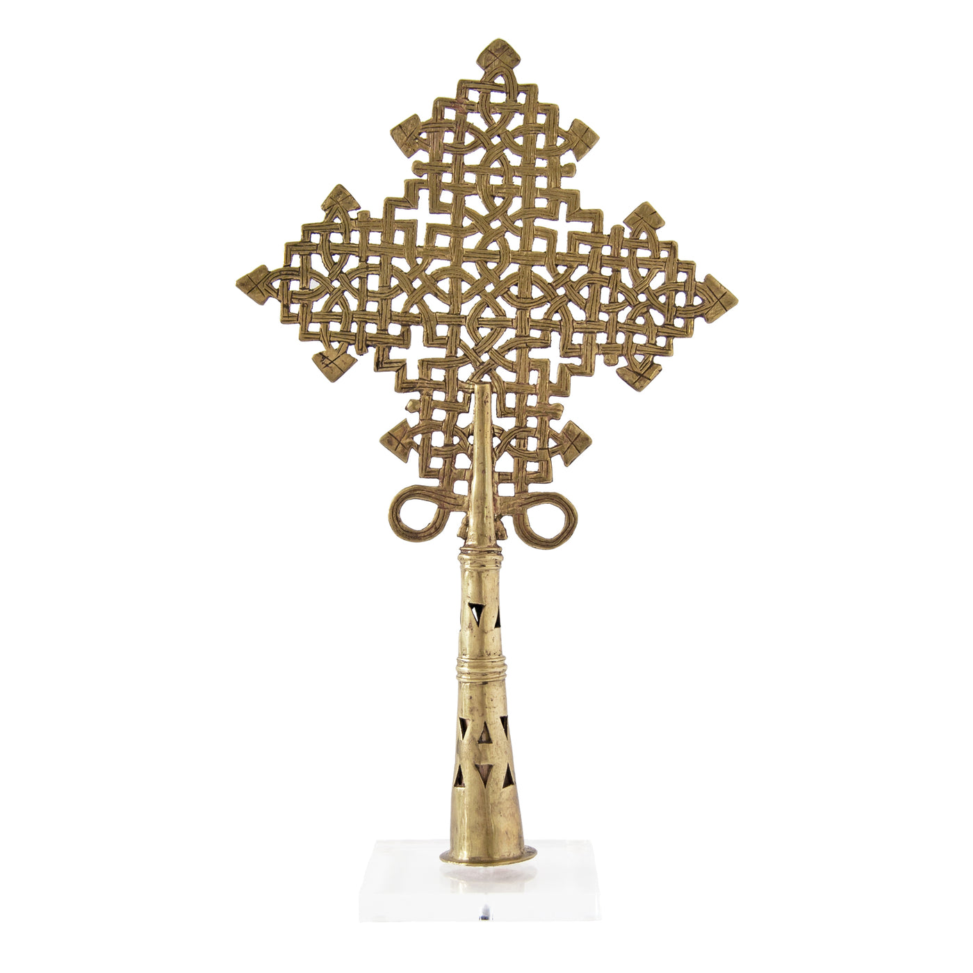 Ethiopian Coptic Cross (gold | extra large) by Safari Fusion www.safarifusion.com.au