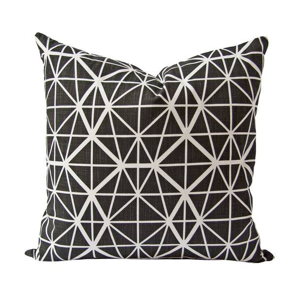 Facet Cushion (black) by Safari Fusion www.safarifusion.com.au