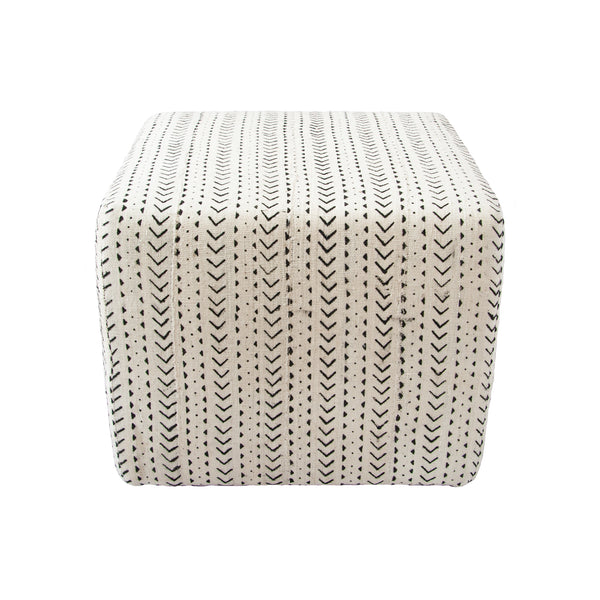 Mud Cloth Ottoman (arrow) by Safari Fusion www.safarifusion.com.au