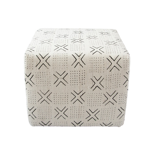 Mud Cloth Ottoman (cross) by Safari Fusion www.safarifusion.com.au