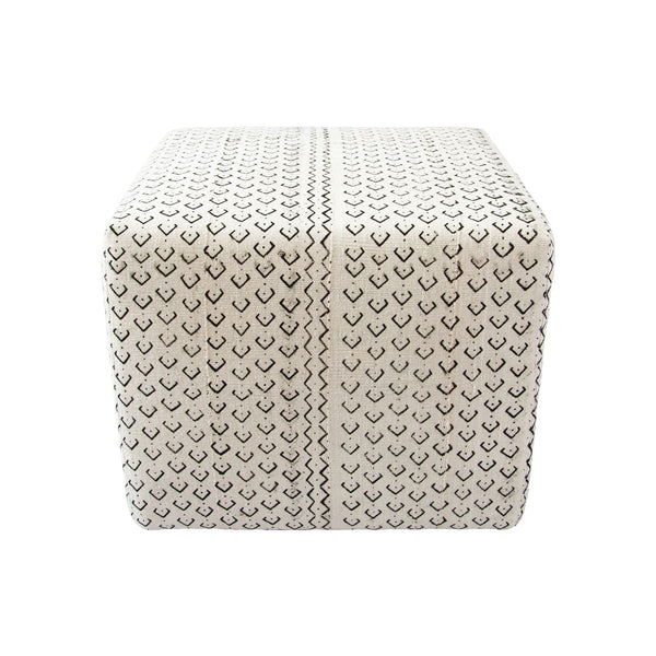 Mud Cloth Ottoman (dots) by Safari Fusion www.safarifusion.com.au