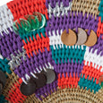 Swazi Patchwork Basket (large) | Detail view